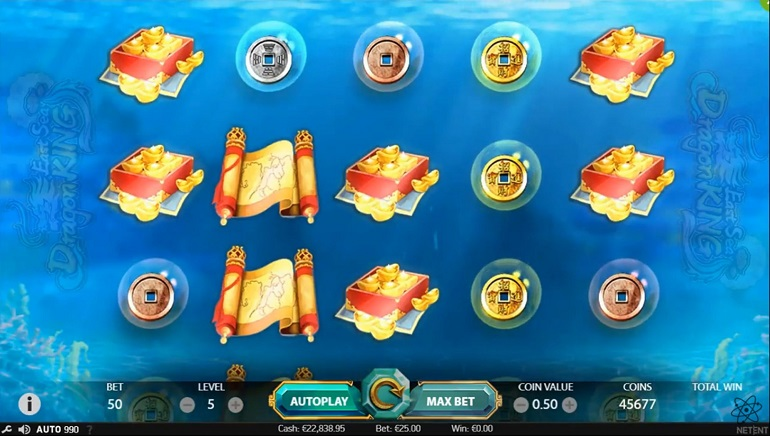 East Sea Dragon King Slot Releases from NetEnt