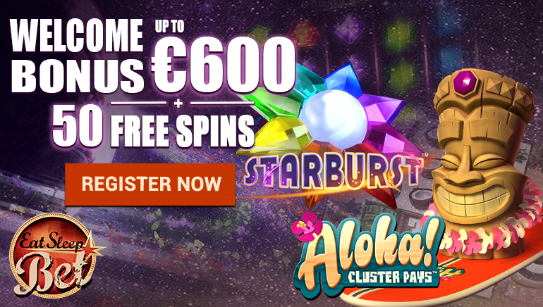 EatSleepBet Offers Players up to €600 & 50 Free Spins