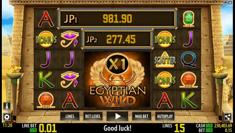World Match Releases Newest Slot: Egyptian Wild