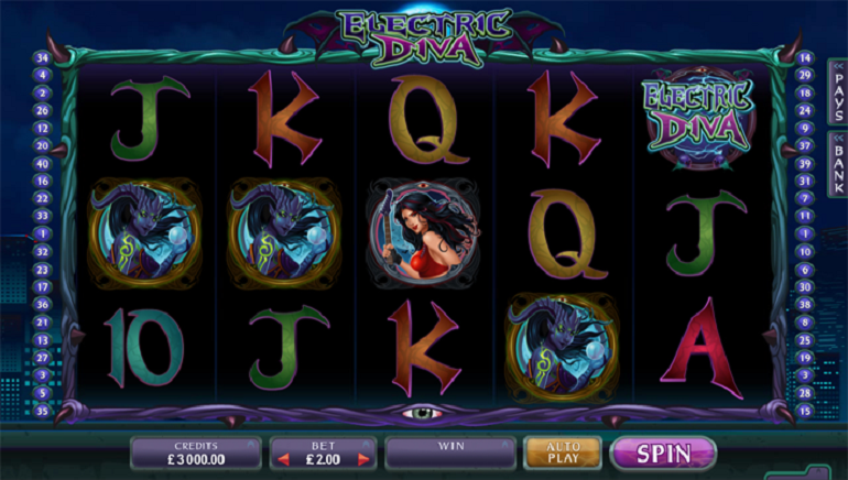 Sci-Fi Themed Microgaming Electric Diva Slot Now Available At Crazy Vegas Casino