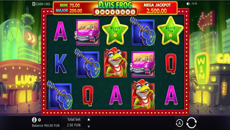 Going Green With The New Elvis Frog In Vegas Slot From BGaming