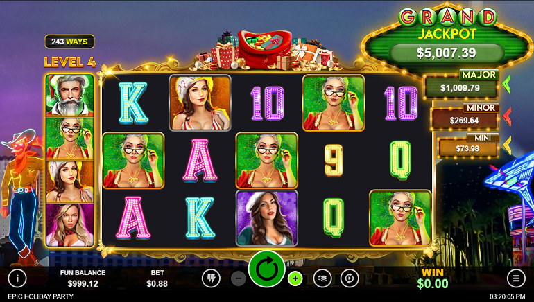 Epic Holiday Party Slot Released by RealTime Gaming