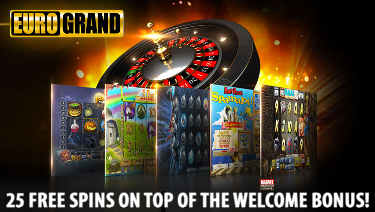 Get 25 Free Spins on Top of Your Welcome Bonus at EuroGrand Casino