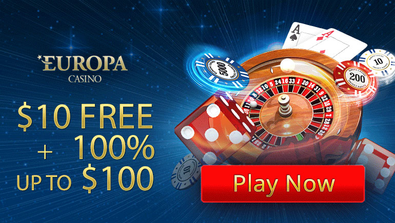 Claim $10 Free Cash with Your First Deposit at Europa Casino