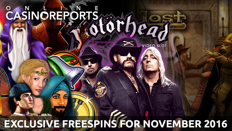Come Get Your Exclusive Free Spins for November 2016