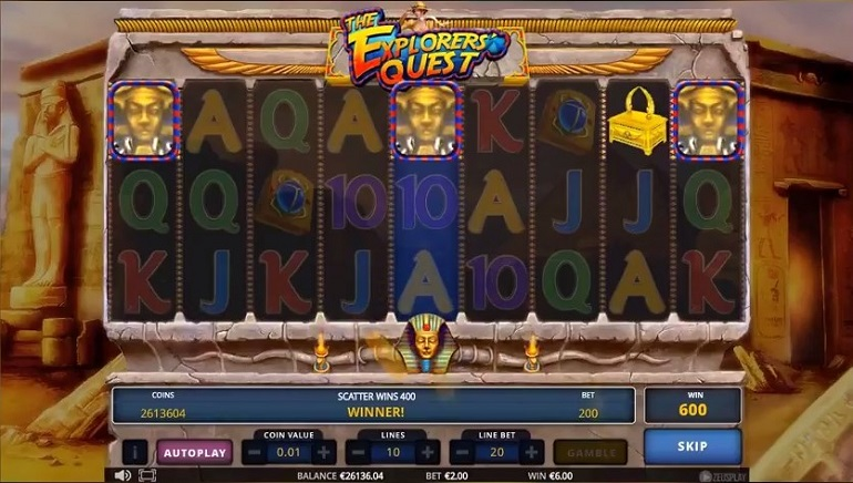 New Egyptian-Themed Slot From Zeus Play: The Explorer's Quest