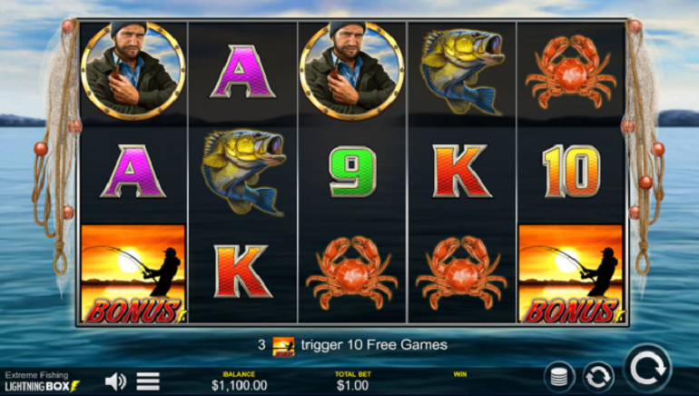 Players Aim To Hook Prizes From Extreme Fishing Slot By Lightning Box Games