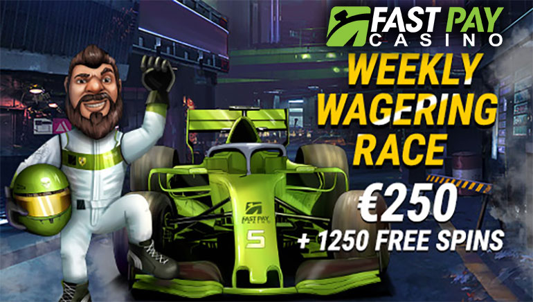 Play Slots & Win Extra Prizes With FastPay Casino Weekly Wagering Race