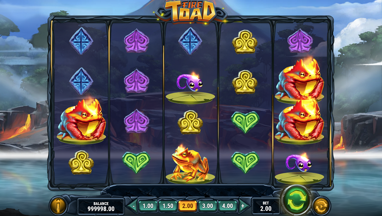 Play'n Go Releases The All-New Fire Toad Slot
