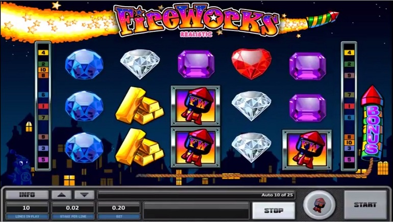 Realistic Games Launches Explosive New Slot Game Fireworks