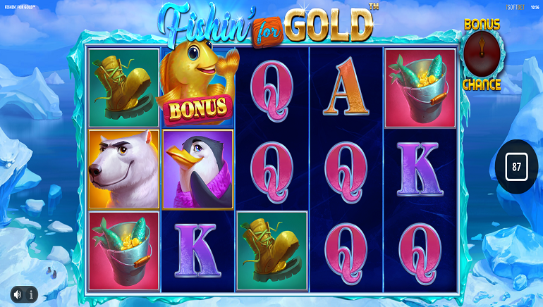 Animated Fun with 'Fishin' for Gold' Slot by iSoftBet