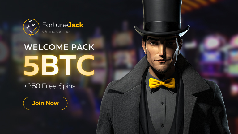 It's Raining Crypto at FortuneJack: Up to 5 BTC and 250 Freespins!