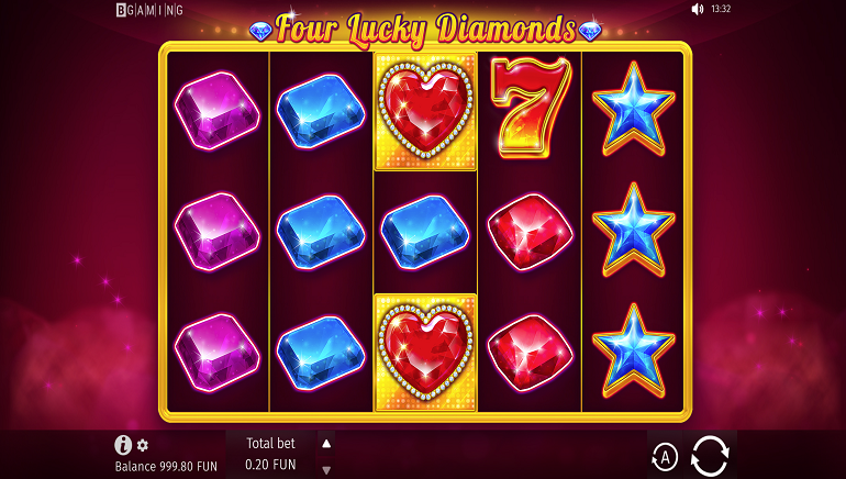 Four Lucky Diamonds Slot by BGaming is a Gem!
