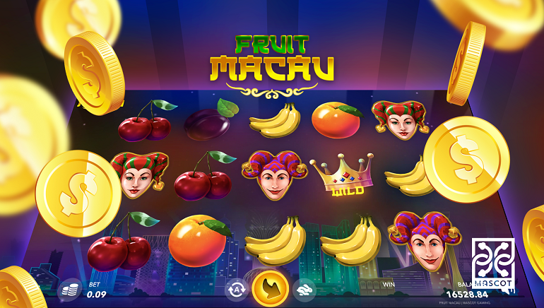 Mascot Gaming Unveils Fruit Macau and Fruit Monaco Slots