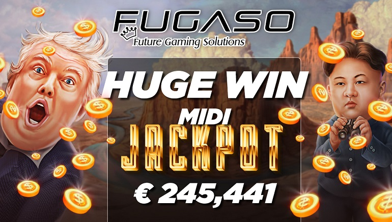 LuckyStreak Player Wins €245k Jackpot on Fugaso's Trump It Deluxe Slot
