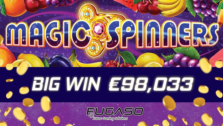 Fugaso's Magic Spinners Slot Hit for €98,033 Jackpot