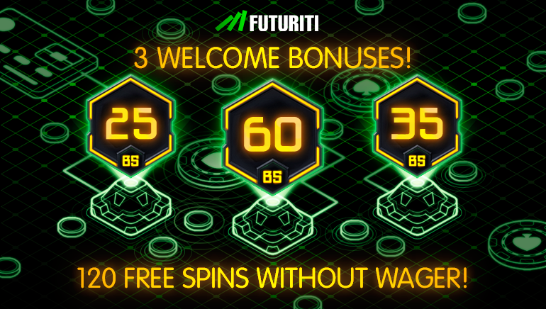 Futuriti Casino Welcomes Players With Up to 120 Wager Free Spins