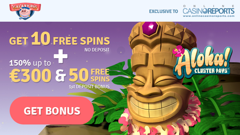 Blast Off with 10 Exclusive No Deposit Aloha Free Spins at Galaxy Pig Casino