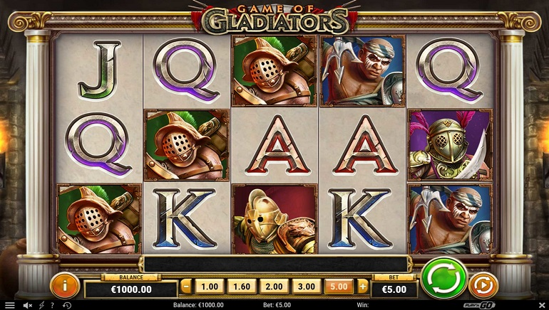 Game of Gladiators Slot Arrives to Play'n GO Casinos