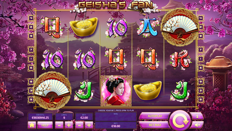 Tom Horn Gaming Releases New Geisha's Fan Slot