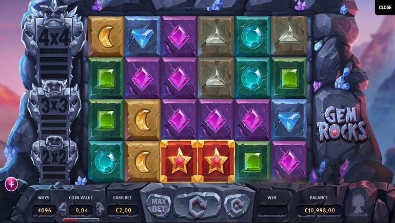 Smash the Gem Rocks in New Yggdrasil Slot