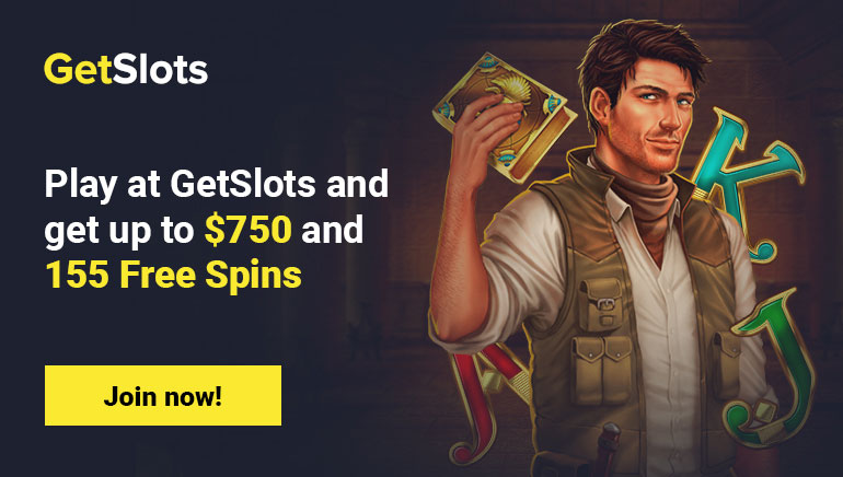 GetSlots Welcome Bonus + Free Spins Package Steals the Show!