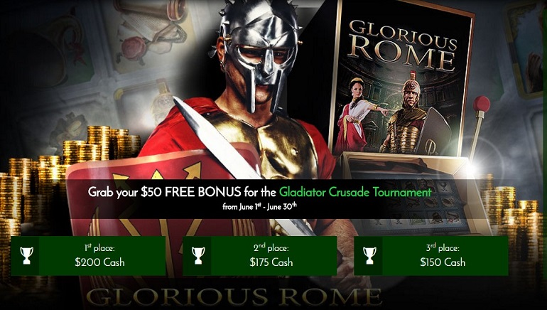 Get $50 Free at the OCR Exclusive 7Spins Gladiator Crusade Tournament