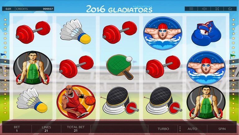 In Time for Rio: Endorphina Releases 2016 Gladiators Slot
