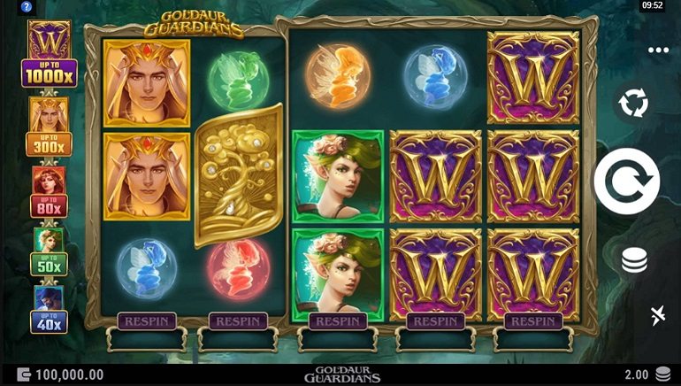 Goldaur Guardians Slot by Alchemy Gaming is Blinging