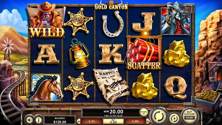 Players Can Dig For Rewards With Betsofts' New Gold Canyon Slot