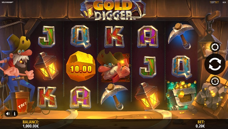 Unearth iSoftbet's New Gold Digger Slot