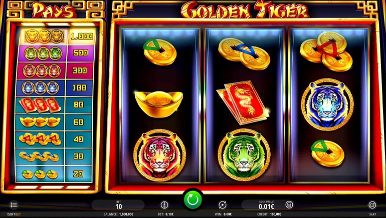Get Your Claws Into The Golden Tiger Slot From iSoftBet