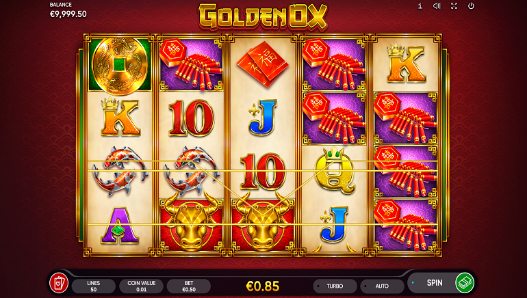 Endorphina Celebrates The Chinese Year Of The Ox With New Golden Ox Online Slot