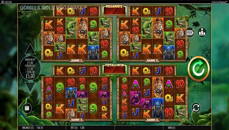 Blueprint Gaming Innovates with Gorilla Gold Megaways Slot
