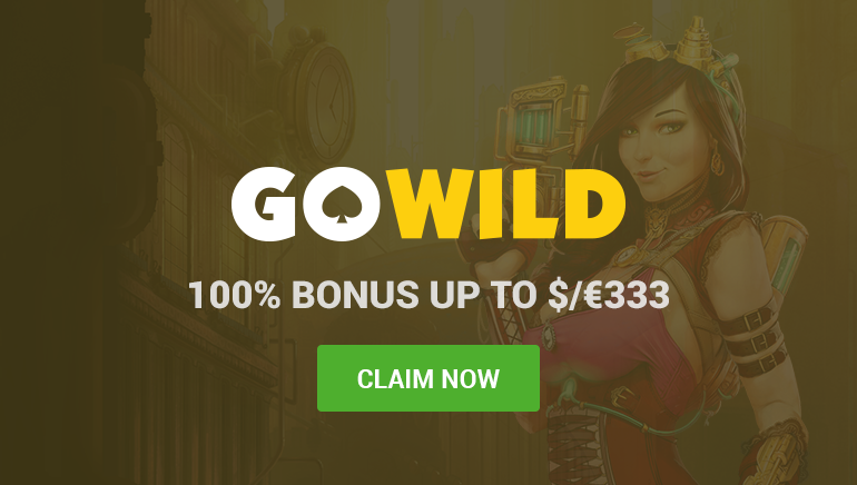 GoWild Casino Welcomes Players with 100% up to €333 on 1st Deposit