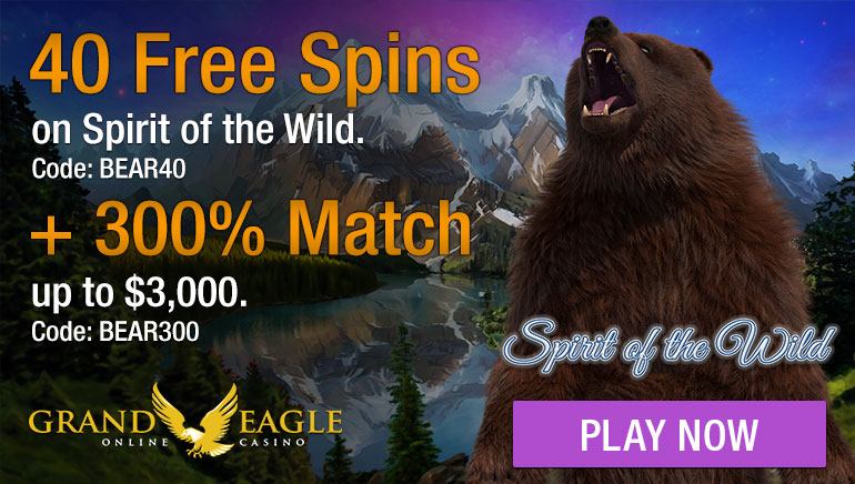 Fly High with Grand Eagle Casino's €300 Welcome Bonus