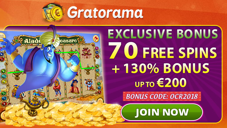 Grab 70 Free Spins and Generous Welcome at Gratorama