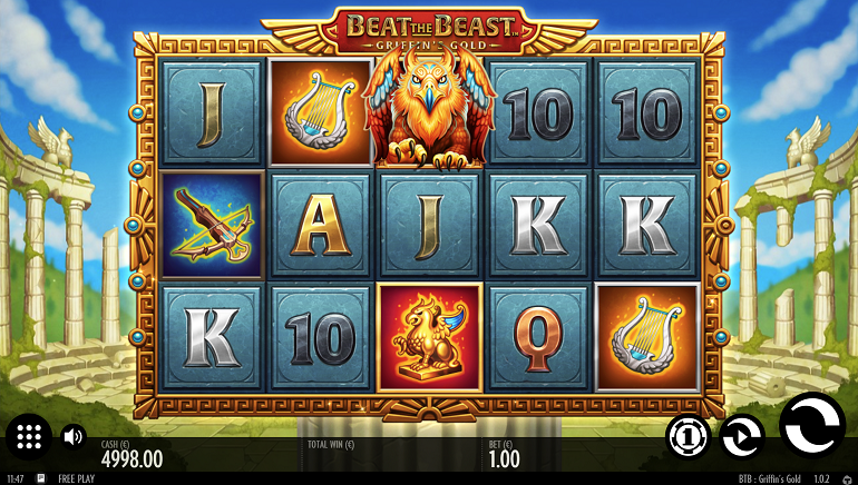 Go for the Gold with Thunderkick's New Slot, Beat the Beast: Griffin's Gold