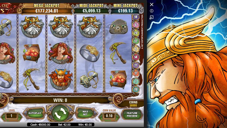 Player Wins €6.7 Million Jackpot Playing Hall of Gods on His Mobile