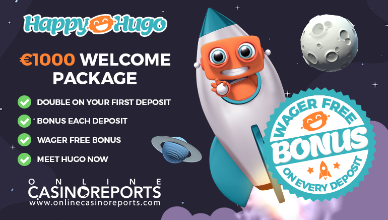 Join Happy Hugo & Claim Your €1,000 Welcome Bonus: No Wagering Requirements
