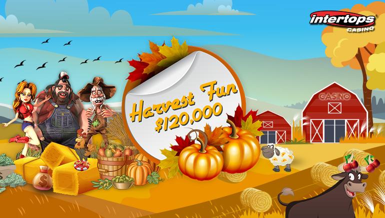 $120,000 in bonus prizes at Intertops Casino In The Harvest Fun Contest