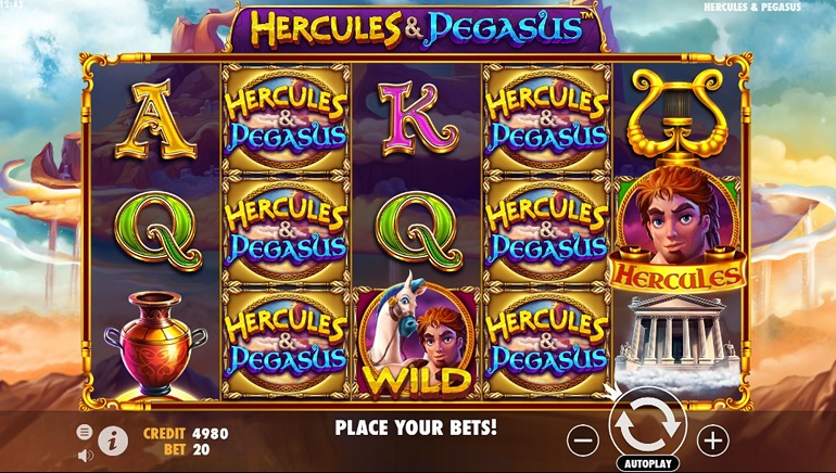 'Hercules and Pegasus' Swoop Down in Dazzling Pragmatic Play Release
