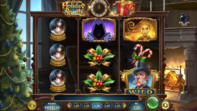 'Tis the Season to Play Holiday Spirits, Play'n GO's New Slot