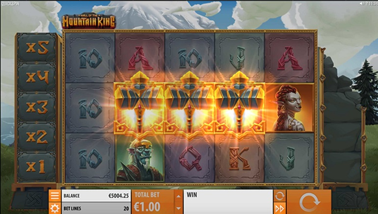 Quickspin Composes Hall of the Mountain King Slot