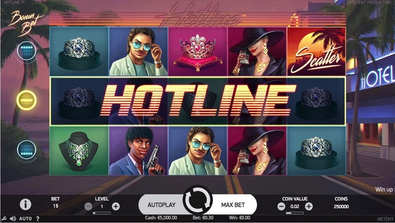 New '80s-themed Hotline Slot by NetEnt Releases
