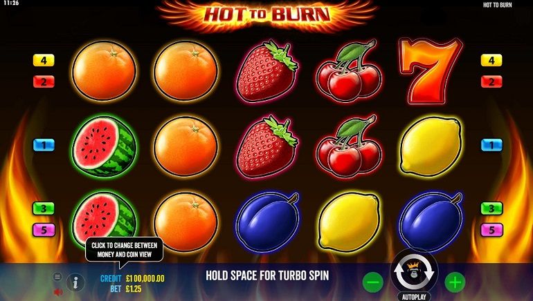 Classic Gameplay From Pragmatic Play's New Hot To Burn Online Slot