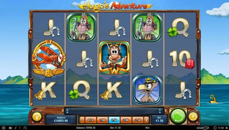 Play'n GO Releases Hugo's Adventure Slot
