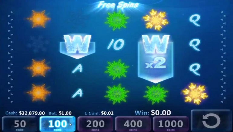 Win a Day Casino Adds New Ice Crystals Video Slot
