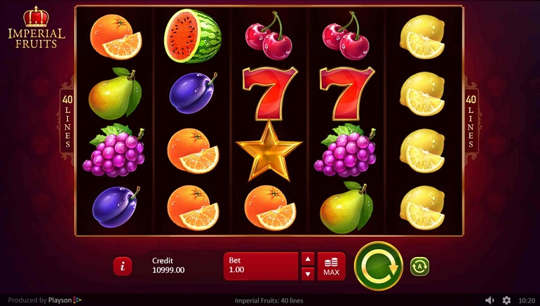 Playing Playson's Royal-Themed Imperial Fruits: 40 Line Slot