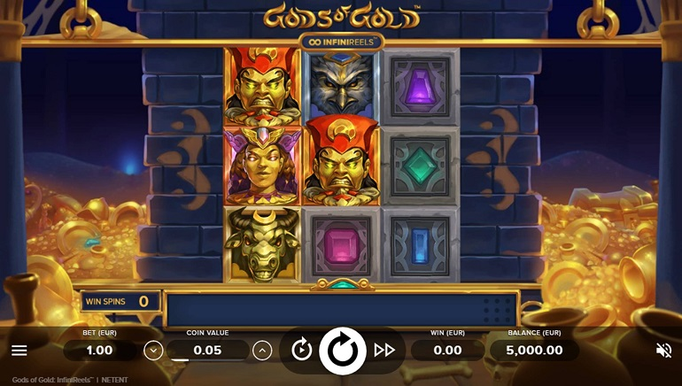 NetEnt Introduces New Concept With Gods of Gold: InfiniReels Slot
